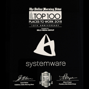 Systemware named for a 9th time among Dallas Morning News